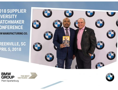 Bioarmor at the BMW Diversifed Supplier event with Shark Tank's Daymond John